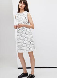 White Dress - Shoes - Women clothing - Fall/Winter Season - Adolfo Domínguez