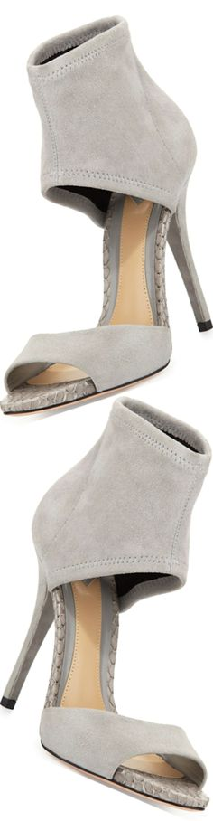 Trendy High Heels For Ladies : B Brian Atwood Correns Suede Ankle-Band Sandal, Gray Fab Shoes, Crazy Shoes, Cute Shoes, Me Too Shoes, Shoes Heels, Gray Heels, Suede Sandals, Suede Heels, Stiletto Heels
