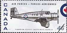 Canadian Postal Archives Database Postal Administration: Canada Title: Canadian Vickers (Northrop) Delta II Denomination: 46¢ Date of Issue: 4 September 1999