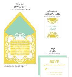 Radient Wedding Invitations & Ensemble by honey-paper.com #wedding #savethedate #aviedesigns #papercuts