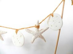 Beach Wedding Cake Topper Starfish and Sand Dollar by AnnKayDesign, €17.00