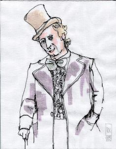 Stitched by Rick: Stitched Portraits: Gene Wilder, as Willy Wonka.