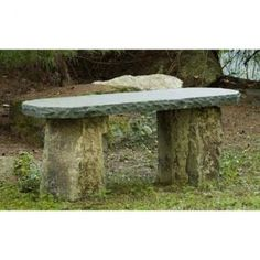 Basalt Bench/ Natural Stone Basalt Bench/ Garden Basalt Bench...via Betty Taylor