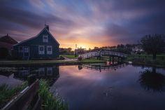 Amsterdam - Zaanse Schans Sunrise by Jean Claude Castor