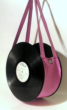 One fine way to carry your favourite music. Long play record becomes handbag