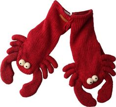 recycled wool sweater lobster mittens