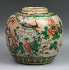 Chinese Antique Famille Verte(Wucai) Jar