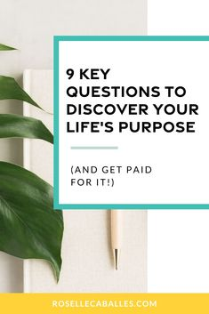 9 Key Questions to Discover Your Life's Purpose (And Get Paid For It! Discover Yourself, Finding Yourself, How To Gain Confidence, Confidence Tips, Confidence Building, Becoming A Life Coach, Quarter Life Crisis, Life Coach Training, Life Purpose