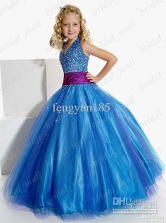 Wholesale Natural Pageant Dress for Girls Junior Pageant Dress Blue Purple two tones Little Girl's Dress, $78.41/Piece | DHgate