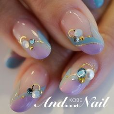 Question about painting fake nails - NailiDeasTrends Love Nails, How To Do Nails, Fun Nails, Purple Nail Designs, Cute Nail Designs, Gold Nail Art, Nails First, Short Nails Art, Latest Nail Art