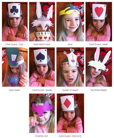 Mad Hatter Tea Party Hats - Available as printable templates