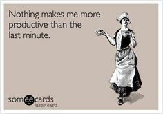 I'm in serious procrastination mode. Who knew there was so much to keep me…