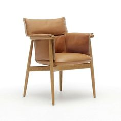 Eoos Embrace Dining Chair in Oak with Caramel Leather Carl Hansen and Son