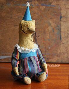 Купить Цирковой мишка - бирюзовый, цирк, мишка, мишка тедди, ручная работа, авторская работа