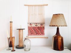 Vintage Wool and Linen Weaving   boho hippie ethnic by ethanollie