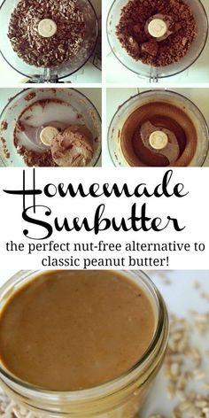 Homemade Sunbutter -