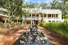 In our latest competition, we're offering our readers the chance to stay at FCC Angkor, a hotel located at the heart of the historic Siem Reap area in Cambodia. Siem Reap, Phnom Penh, Cheap Places To Travel, French Colonial, Royal Residence, Green Landscape, Landscape Design, Angkor Wat, Club