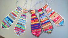 галстук, аппликация, поделка, дети, бумага