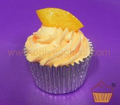 C948 - Peach Flavour Cupcake - Premium Cupcakes - Egg free cakes from Only Eggless