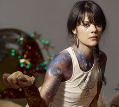 Image discovered by tangiblefrangible. Find images and videos about music, bat for lashes and natasha khan on We Heart It - the app to get lost in what you love. Bat For Lashes, Drug Tattoos, New Bat, Barbie, Music Love, Music Pics, Body Mods, Girl Crushes, Stars And Moon
