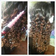 Unplugged curling wand. Brazilian hair wig