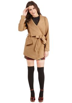 Preferred Pairing Coat in Croissant.  #tan #modcloth