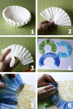 Coffee filters as scrapbook ruffles