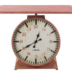 Scales Table Clock