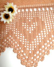 Hearts Crochet Border pattern. More Patterns Like This!