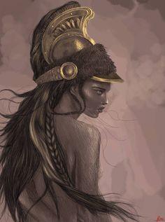 Athena by on DeviantArt Greece Goddess, Greece Mythology, Athena Goddess, Goddess Art, Greek Mythology Tattoos, Greek Mythology Art, Greece Tattoo, Athena Tattoo, Rome Antique
