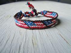 American Flag Friendship Bracelet