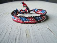 American Flag Friendship Bracelet