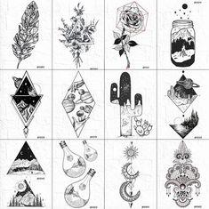 Unique Tattoos, Cute Tattoos, Hand Tattoos, Sleeve Tattoos, Tattoos For Guys, Tattoos For Women, Tatoos, Body Art Tattoos, Geometric Mountain Tattoo