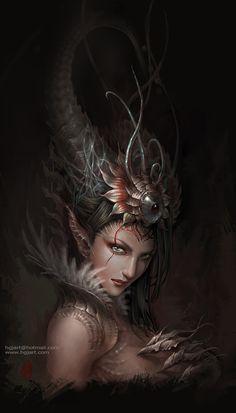 Dragones guerreros y seres mitologicos