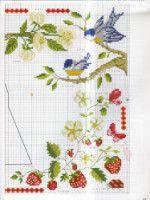 Gallery.ru / Фото #24 - DFEA 31 май-июнь 2003 - fialka53 Cross Stitch Fruit, Cross Stitch Bird, Cross Stitch Samplers, Cross Stitch Embroidery, Cross Stitch Patterns, Stitch 2, Crochet, Needlework, Projects To Try