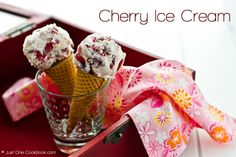 Cherry Ice Cream from @Nami | Just One Cookbook