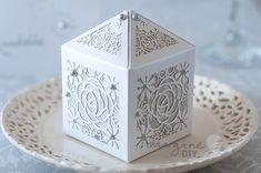 blank laser cut wedding favour box. Pretty wedding favour box to make yourself