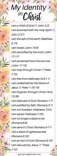 31 Identity in Christ Bible Verses to Encourage your Soul -