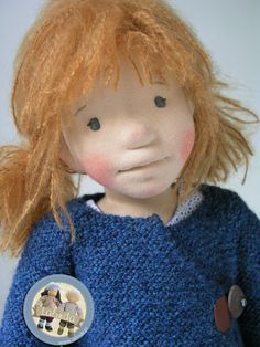 Ava - natural fiber art doll by Lalinda.pl