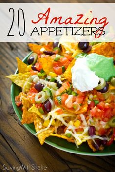 As we head into football season don't miss this list of 20 Amazing Appetizers that are perfect for your next game day celebration or tailgate party! /maryleemom/awesome-party-decorations-gifts/ BACK Recipes Appetizers And Snacks, Finger Food Appetizers, Yummy Appetizers, Appetizers For Party, Finger Foods, Snack Recipes, Cooking Recipes, Desserts, Party Platters