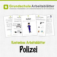 Kostenlose Arbeitsblätter Polizei What Is Parenting, Kids And Parenting, Learn German, Science For Kids, Police, Homeschool, Education, Learning, Children