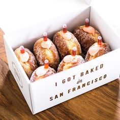 The Most Instagrammed Bakeries In S.F. #refinery29  http://www.refinery29.com/best-san-francisco-bakeries#slide-4  Boozy donuts, anyone?
