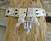 Spoon Bracelet - Coronation Silver Plated Spoon Bracelet with Genuine Swarovski Crystal Cube