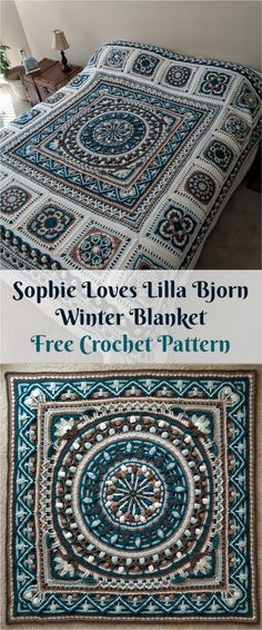 "[Free PDF Pattern] Sophie ""Loves Lilla Bjorn"" Winter Blanket #crochet #homedecor #crochetpattern #crochetlove"