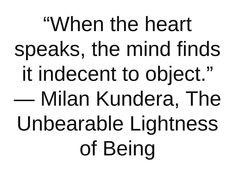 Milan Kundera, The Unbearable Lightness of Being