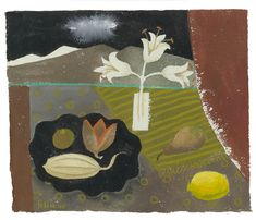 Mary Fedden | Lilies at Night