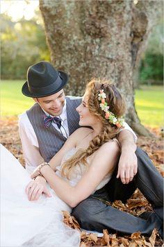 spring wedding hairstyle