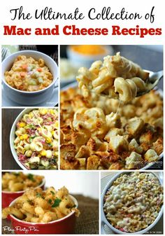 The best collection of macaroni and cheese recipes, so much cheesy goodness all in one place