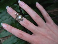 knuckle ring armor ring midi ring nail ring claw by gildedingypsy