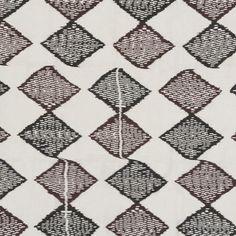 "Madeline Weinrib ""Dodi Ikat"" in Black & Brown – Revitaliste Ikat, Black And Brown, Upholstery, Quilts, Blanket, Fabric, Tejido, Tapestries, Tela"